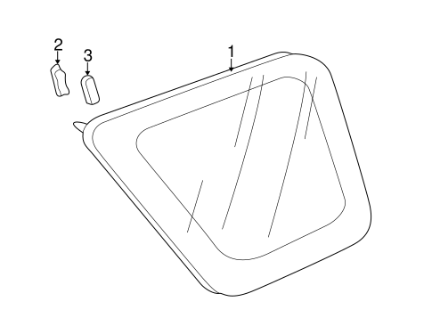 Fastener B, Rear Windshield