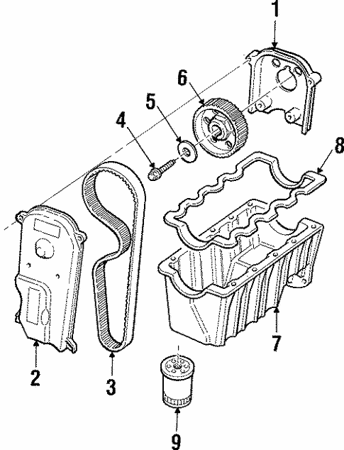 engine parts for 1997 mercury tracer #1
