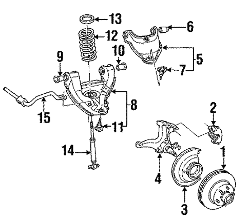 Oem 1996 Chevrolet Suburban K2500 Front Brakes Parts