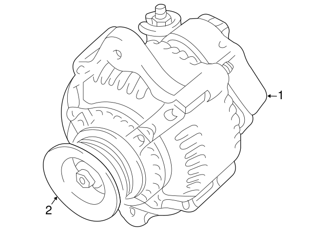 genuine toyota fj cruiser alternator 27060 31120 84 click thumbnails to enlarge genuine toyota parts