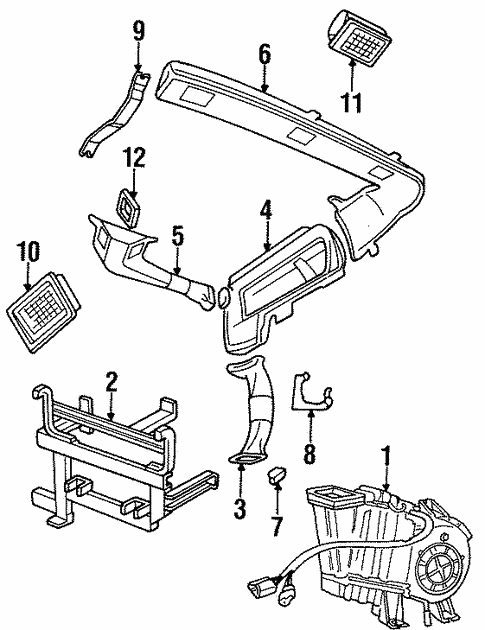 Evaporator Heater Components For 1997 Land Rover Discovery