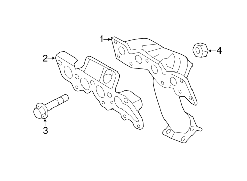 Exhaust Manifold For 2011 Ford Escape