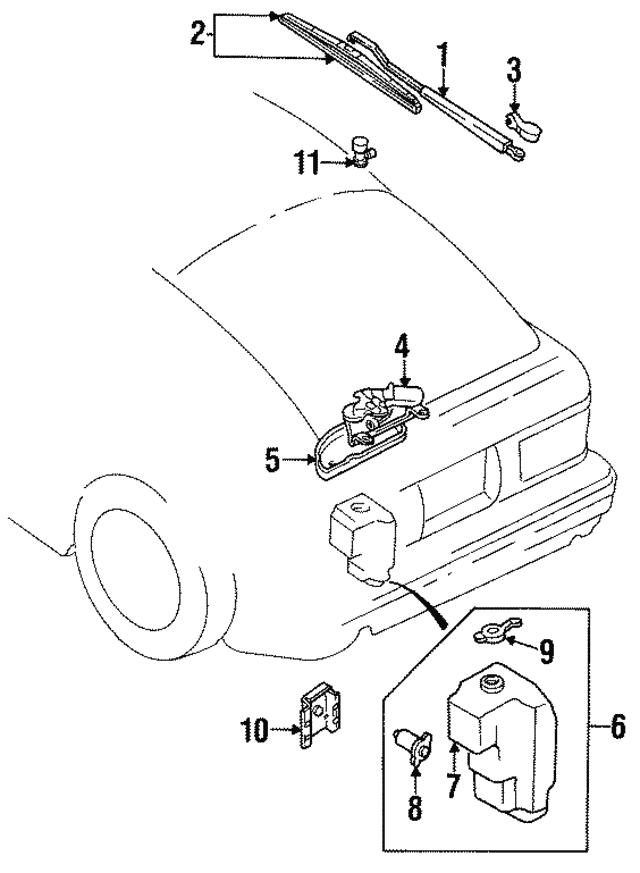 Mazda 8532-76-672 Windshield Washer Pump