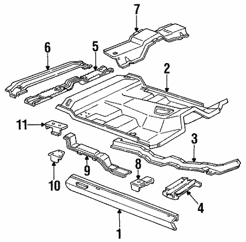Body/Floor - Cab for 1997 Ford Ranger #1