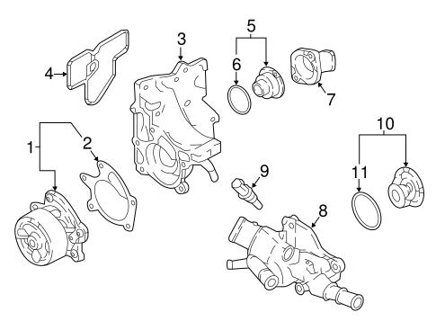 Oem 2017 Nissan Rogue Sport Water Pump Parts