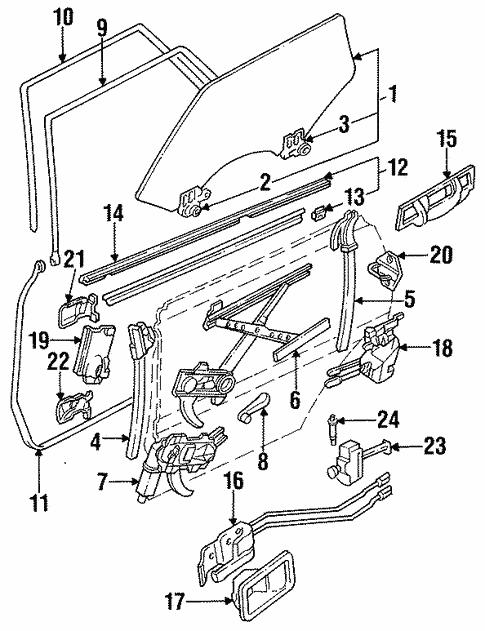 Glass Rear Door For 1990 Subaru Loyale Shop Subaru Parts