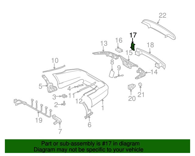 Energy absorber bracket mercedes benz 219 885 00 14 for Mercedes benz part numbers list