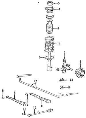 Shock Absorber Assembly-Rear Left-Hand