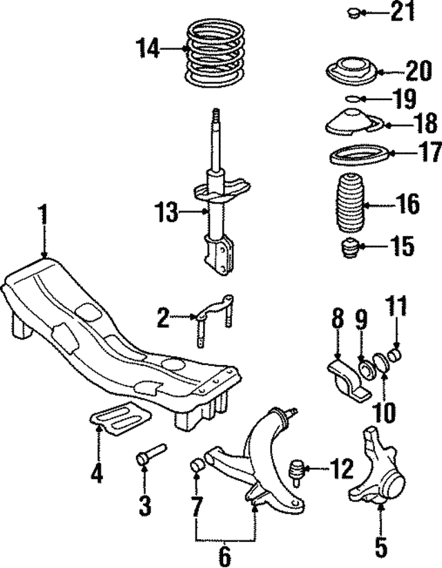 Suspension Strut - Subaru (20311AC210)