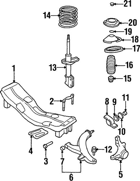 Suspension Components For 1999 Subaru Legacy
