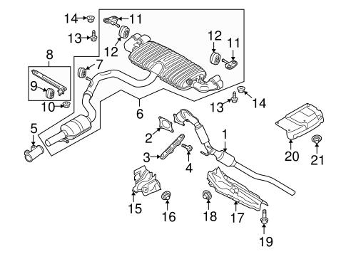 Exhaust Components For 2013 Audi Tt Quattro