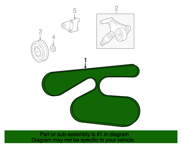For Scion xB Toyota Camry RAV4 2.4 L4 Serpentine Drive Belt Genuine 90916 A2011