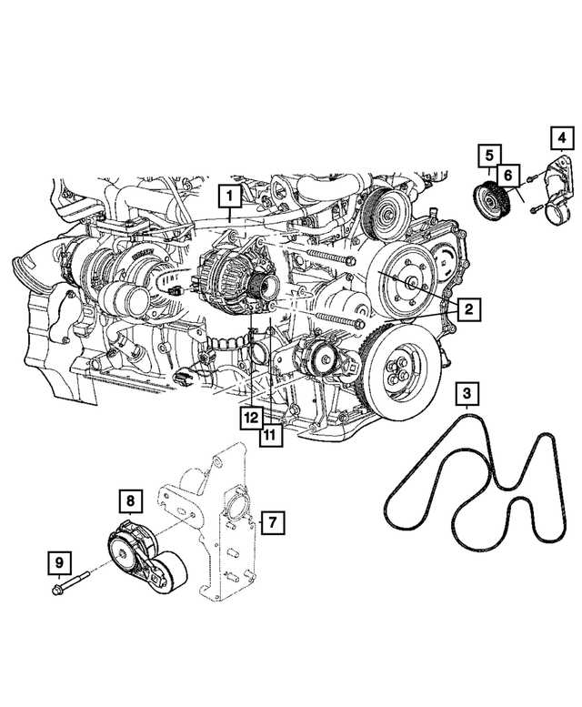 Alternator - Mopar (4801475AB)