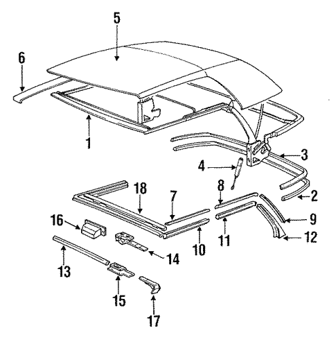 Folding Top for 1991 BMW 325i #0