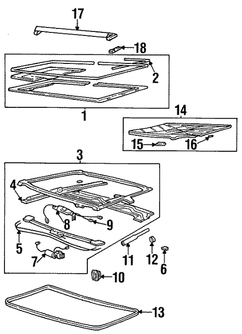 Sunroof Parts Diagram