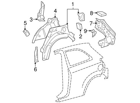 BODY/INNER STRUCTURE for 2008 Toyota Yaris #1