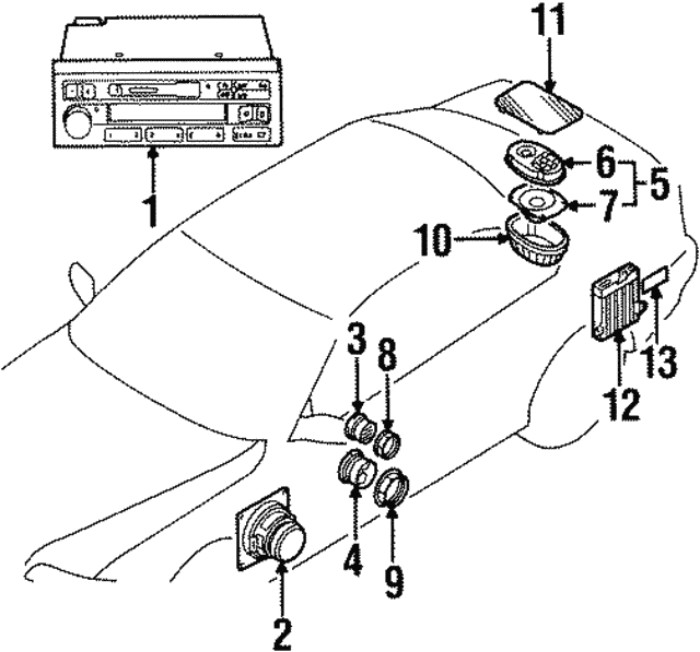 1992 1994 Bmw Speaker 65 13 8 357 881
