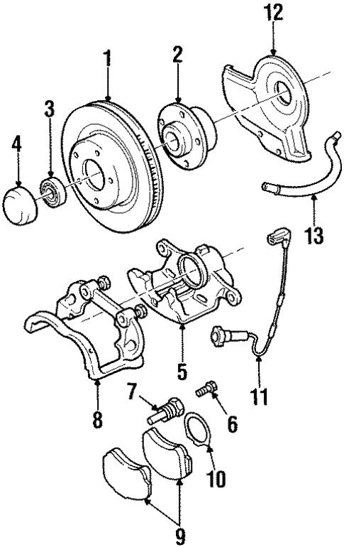 Front Brakes For 2000 Cadillac Catera