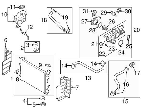 radiator ponents for 2014 kia optima quickparts 2014 Kia Sorento LX White cooling system radiator ponents for 2014 kia optima genuine oem parts 1