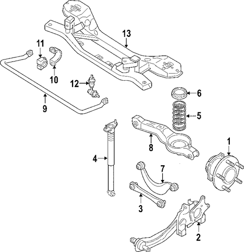 rear suspension for 2010 mazda cx