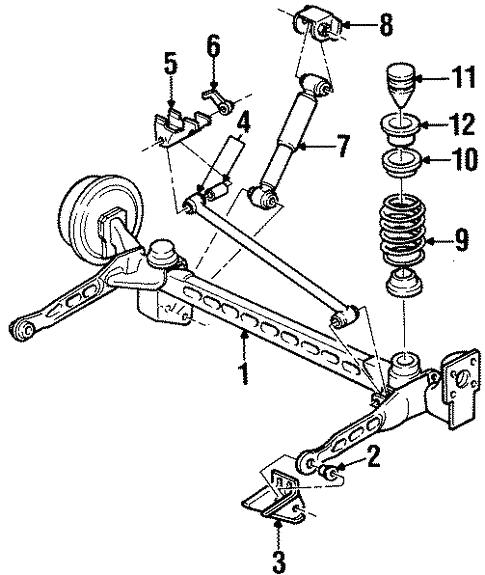 Oem 2001 Oldsmobile Silhouette Rear Suspension Parts