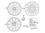 Space Saver Spare Wheel Kit - Land-Rover (LR033229)