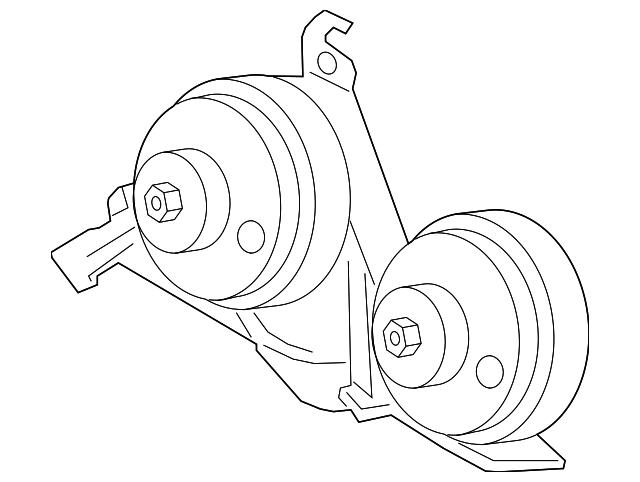 Genuine Ford Horn Fl3z 13832 B