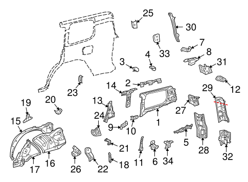 BODY/INNER STRUCTURE for 2009 Toyota Land Cruiser #1