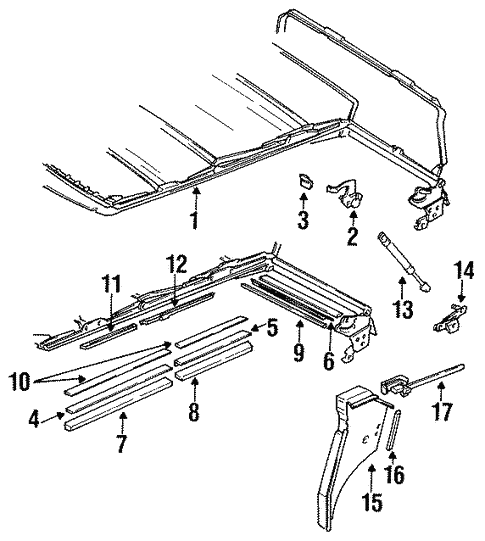 Oem Vw Frame Components For 1989 Volkswagen Cabriolet
