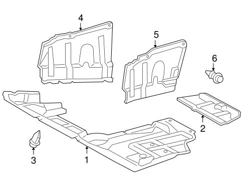 [SCHEMATICS_48DE]  Splash Shields for 2007 Toyota RAV4 | Toyota Parts Center | 2007 Rav4 Engine Diagram |  | Olathe Toyota Parts Center