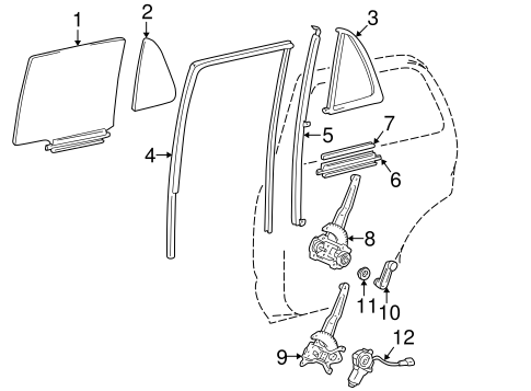 Rear Door For 1997 Toyota 4runner