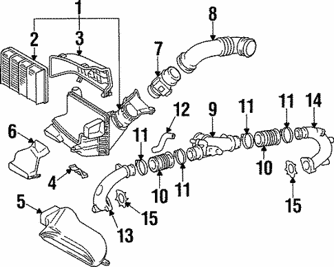 Genuine Oem Air Intake Parts For 1994 Toyota Supra Twin Turbo