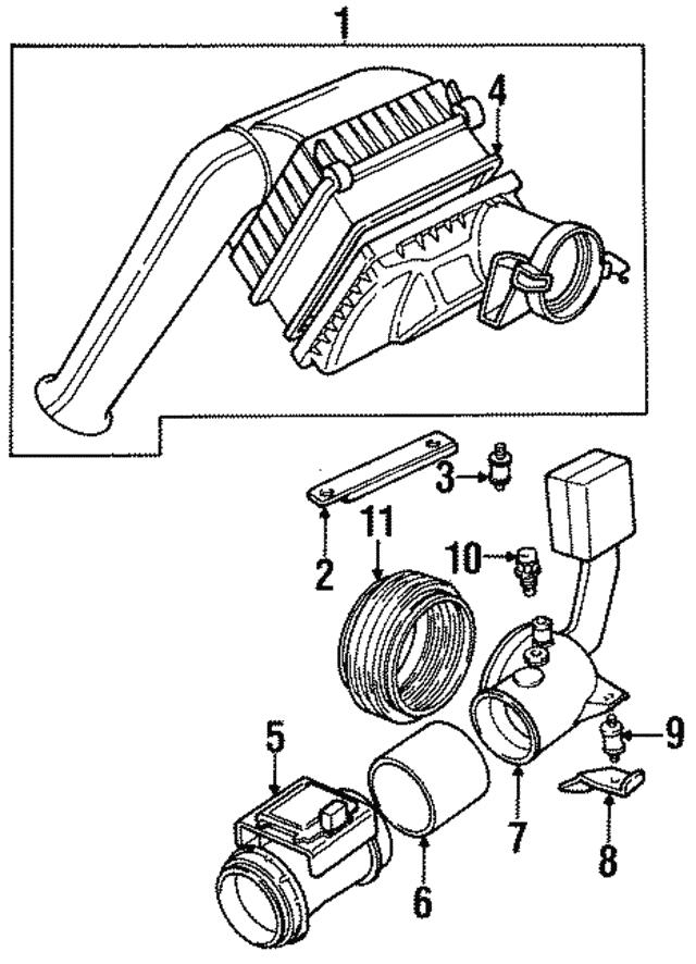 1995 1997 Jaguar Temp Sensor Lhe1602aa