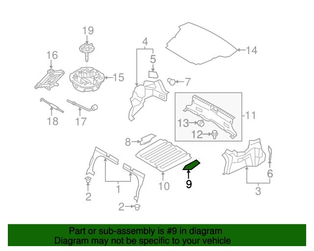 Right Genuine Hyundai 85860-33000-AV Pillar Trim Assembly Rear