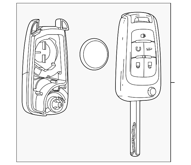 genuine buick encore transmitter 13585811