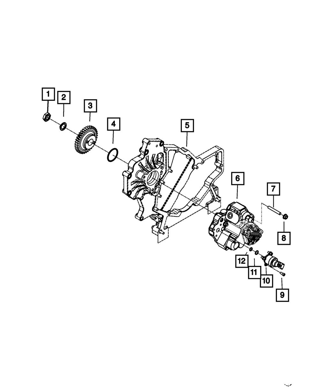 6 Mopar 5014189AA Fuel Injection Pump O-Ring-VIN