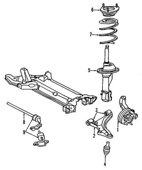 Suspension Components For 1991 Dodge Spirit