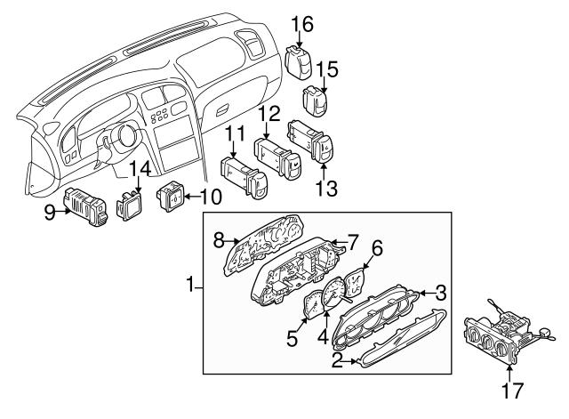 Kia Kia Defroster Switch 0k2a3 66460c Genuine Kia Parts