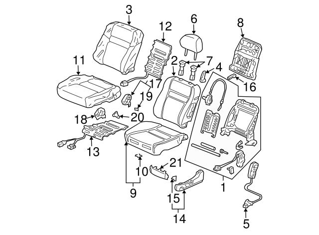 Rear Honda Genuine 82131-SDC-A21ZC Seat Cushion Trim Cover