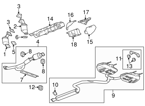 Oem 2010 Buick Lacrosse Exhaust Components Parts