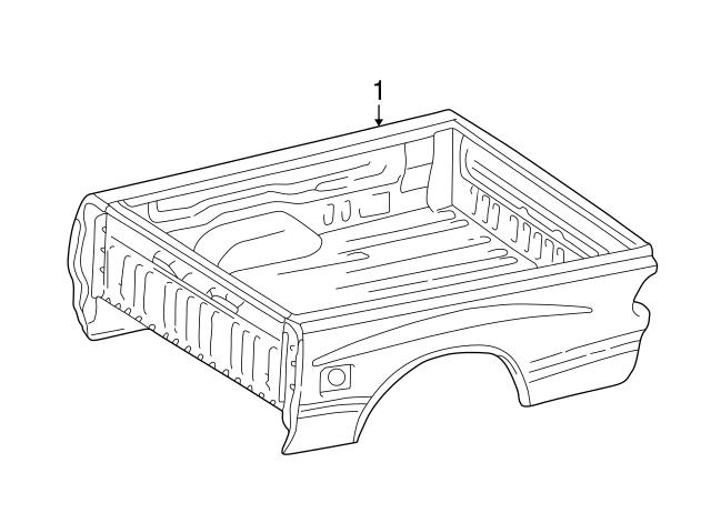 2000 Toyota Tundra Box Assembly 66000 0c050