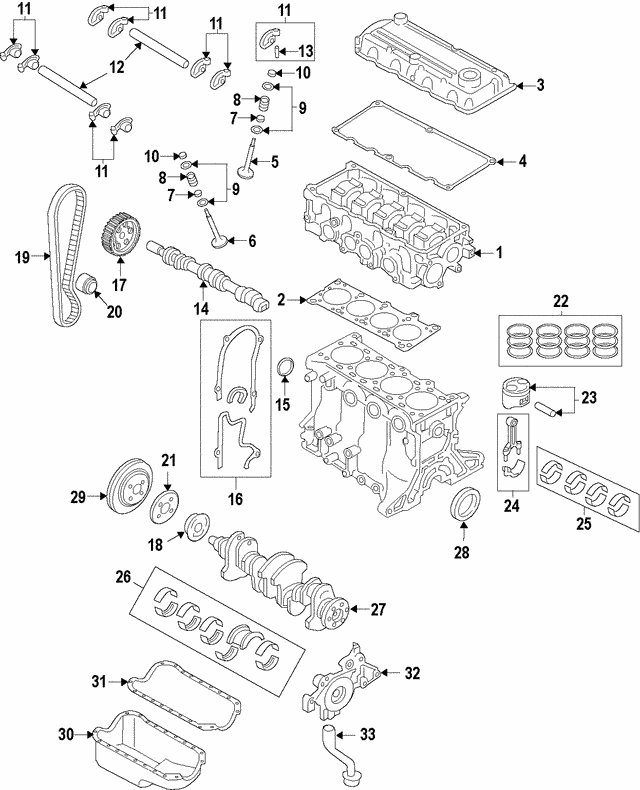 Engine Timing Belt - Mazda (B6Y2-12-205)