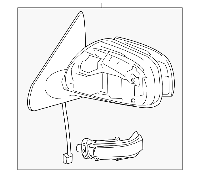 2014 Scion Iq Transmission: Mirror Assembly - Toyota (87940-52420)