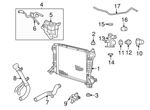 radiator components for 2004 lincoln ls tascaparts. Black Bedroom Furniture Sets. Home Design Ideas