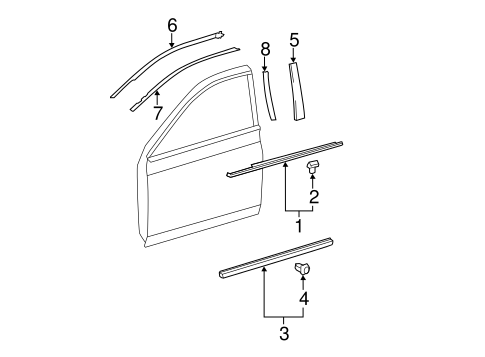 BODY/EXTERIOR TRIM - FRONT DOOR for 2012 Toyota Avalon #1