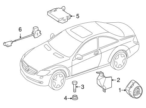 Alarm System For 2007 Mercedes Benz Cl 600