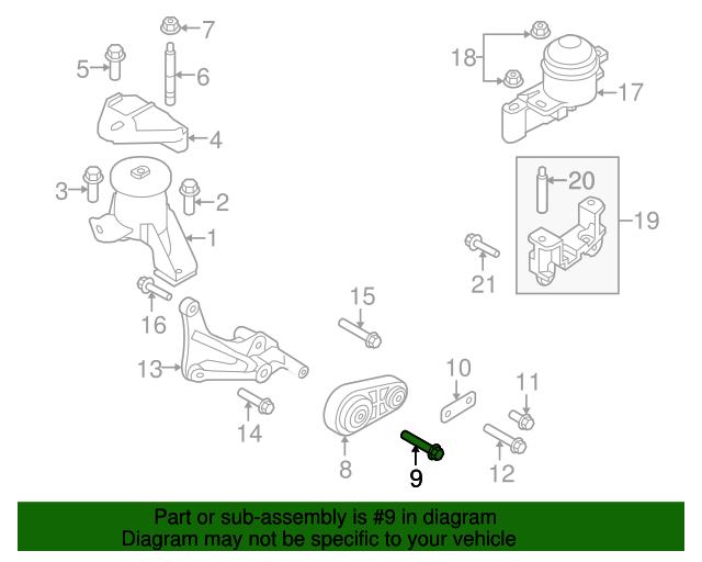 ford edge lincoln mkx transmission torque strut m12 x 90mm bolt rh tascaparts com 2009 Lincoln MKX 2010 Lincoln MKS