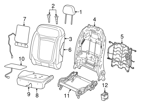 Front Seat Components for 2015 Jeep Renegade #2