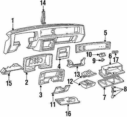 Instrument Panel For 1984 Chevrolet El Camino