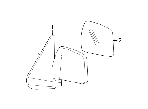 Body/Outside Mirrors for 2005 Ford Ranger #1